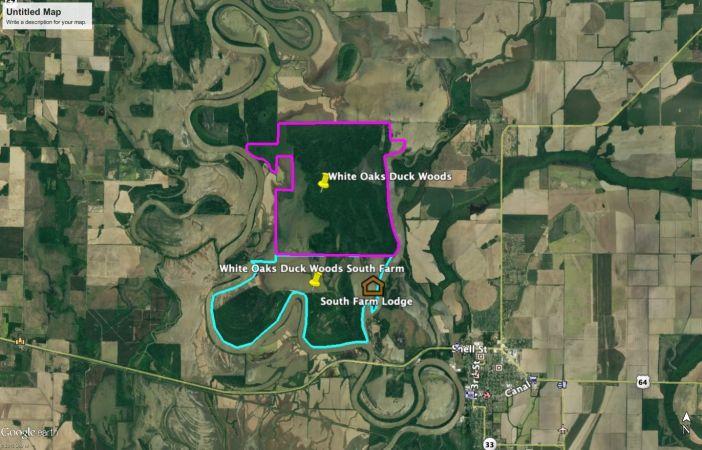 White Oaks Duck Woods Map